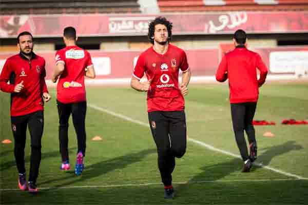 أحمد حجازي يشارك في مران الأهلي الجماعي