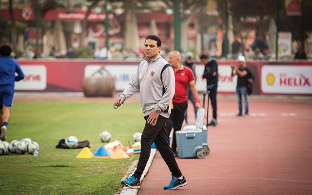 حسام البدري يقود مران اللاعبين الغائبين عن لقاء المقاولون
