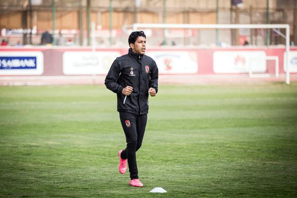 أحمد حمودي يشارك في التدريبات الجماعية