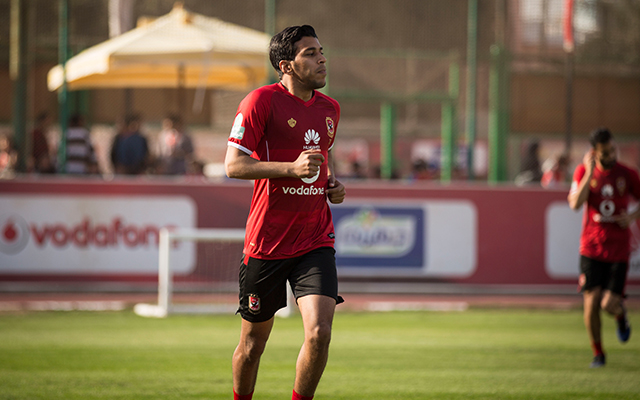 أحمد حمودي يؤدي تدريبات تأهيلية