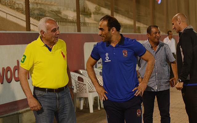 شيرين شمس يتابع استعدادات الفريق لمواجهة المقاصة